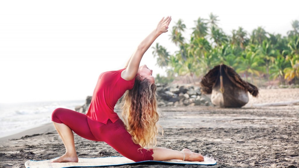 yoga-girl-red-beach-pose