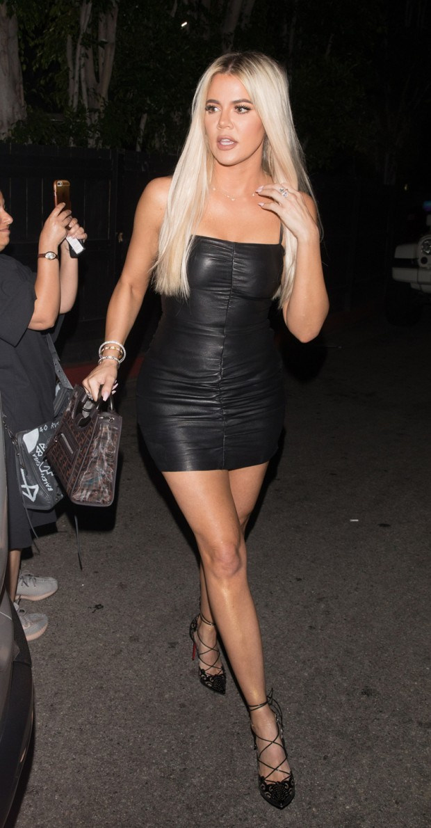 Khloe Kardashian is spotted leaving the Nice Guy in West Hollywood